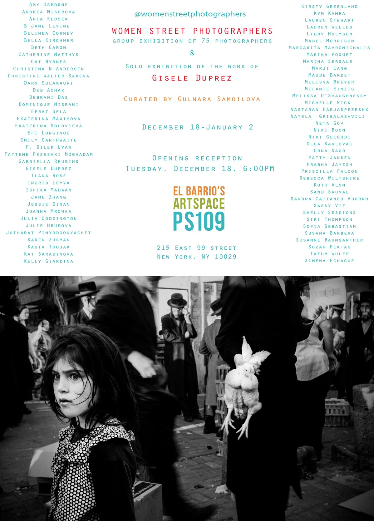 womens street-photography exhibition flayer